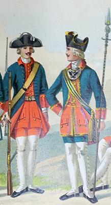 Рядовой и офицер 1732-1742 г., царствование Анны Иоанновны;