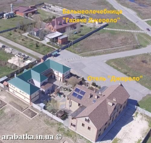 17-8-2018 Отель Джерело в Генгорке рядом с бальнеолечебницей Гаряче Джерело на Арабатской стрелке